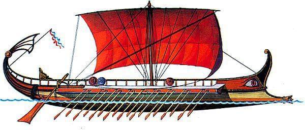 Модел на гръцка галера