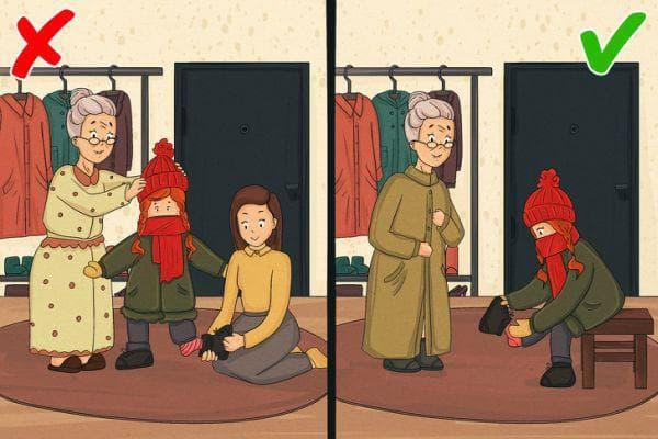 Самостоятелно обличане на детето