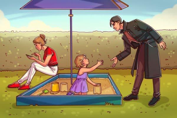 Отвличане на дете от детска площадка