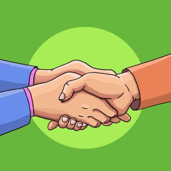 Ръкостискане с две ръце