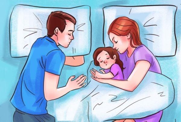 Съвместно спане с децата