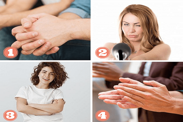 ръце, език на тялото