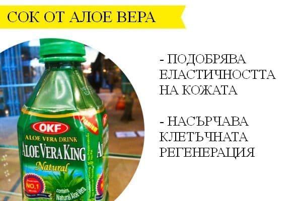 Сок от алое вера