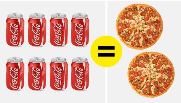пица и кола