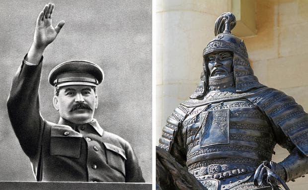 Йосиф Сталин и Чингис хан