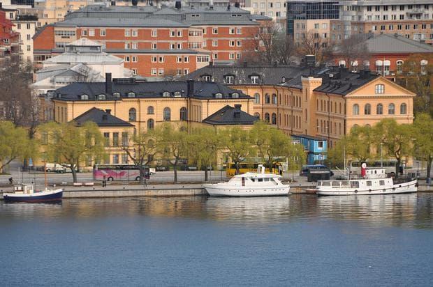 Изглед към старата сграда на Каролинска институтет  ц центъра на Стокхолм