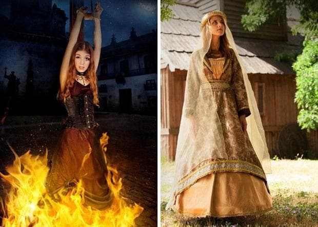 жени, изгаряни на клада