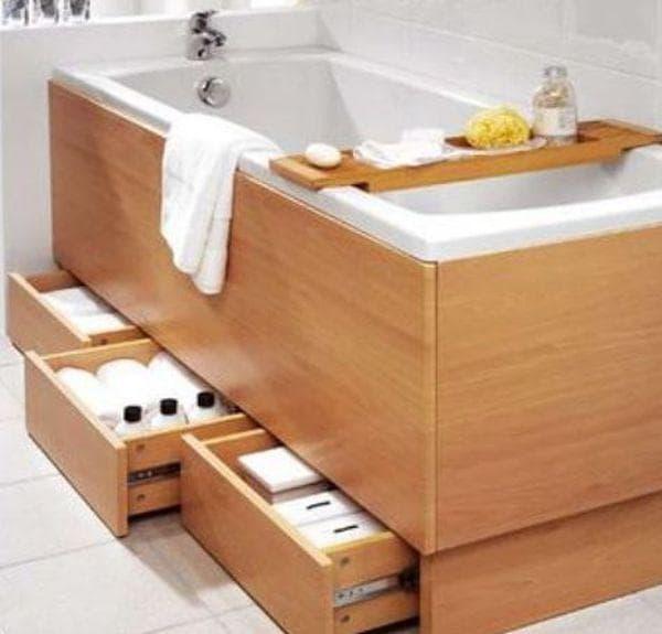 Съхраняване на предмети под банята