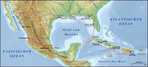 карта на де Вака