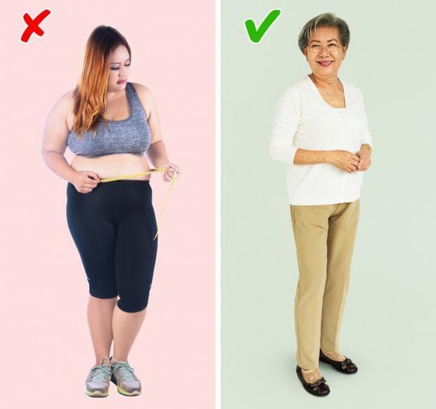 жена с нормално и наднормено тегло