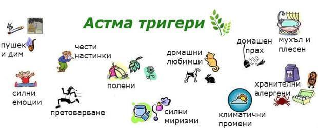 Астма тригери