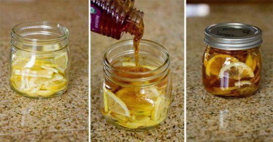 Сироп от мед, лимон и джинджифил