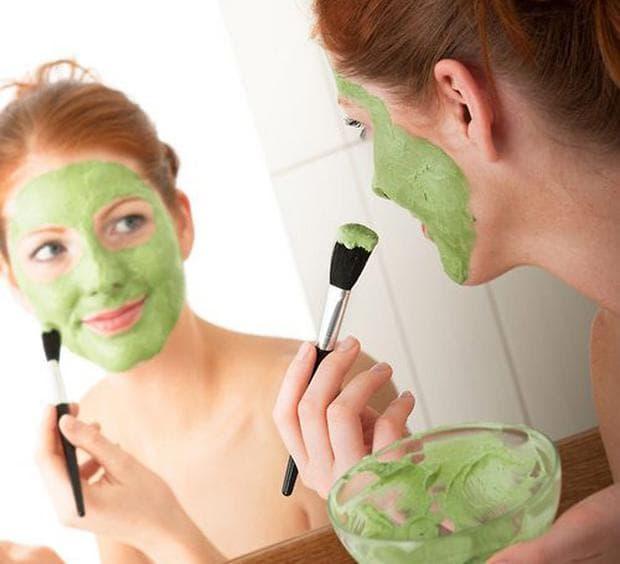 маска за лице с краставица