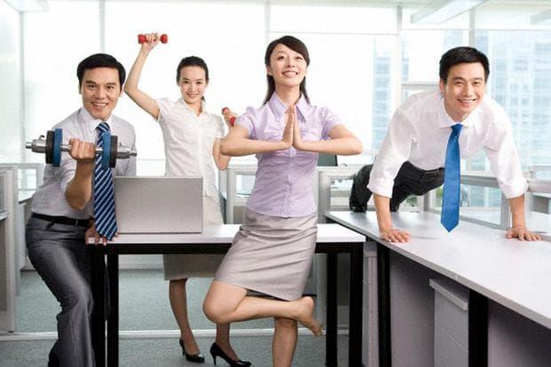 Фитнес с колеги