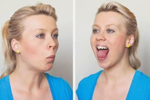 Упражнение Освобождаване на челюстта