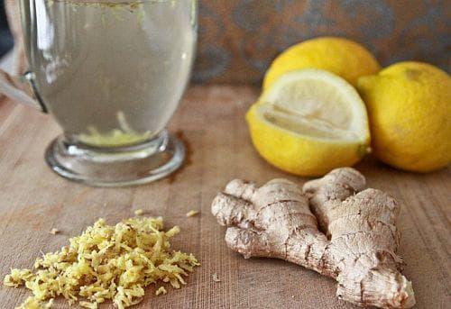 Чай джинджифил и лимон