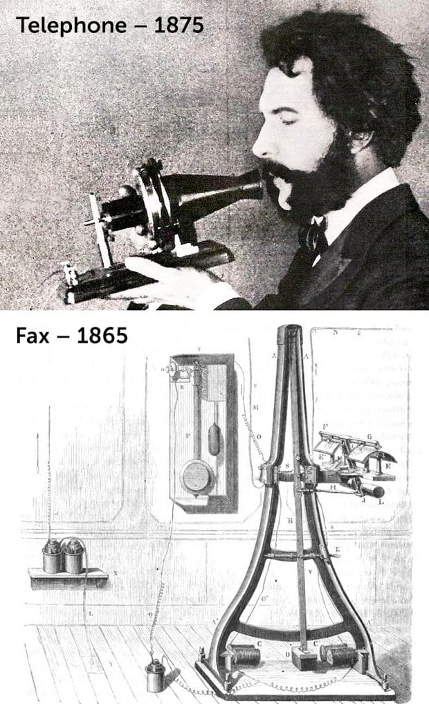 Първият факс и телефон
