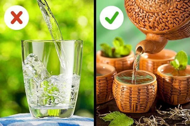 чай вместо студена вода