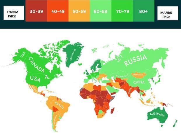 Карта на света, базирана на климатичните промени