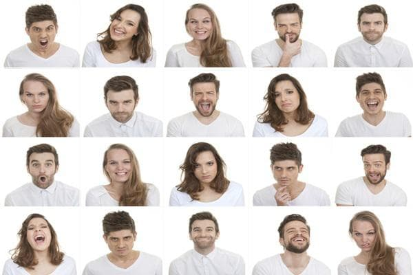 Определяне на лицевия израз