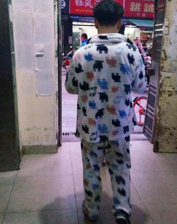 носене на пижама