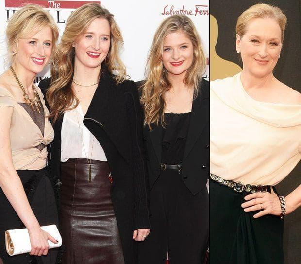 Мерил с нейните дъщери