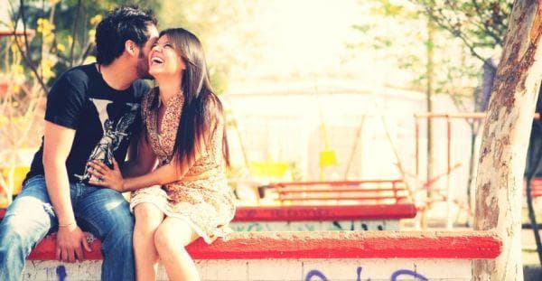 влюбени, щастие