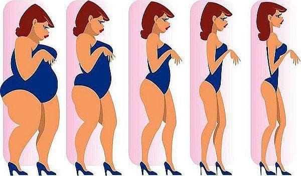 преди и след едномесечната диета