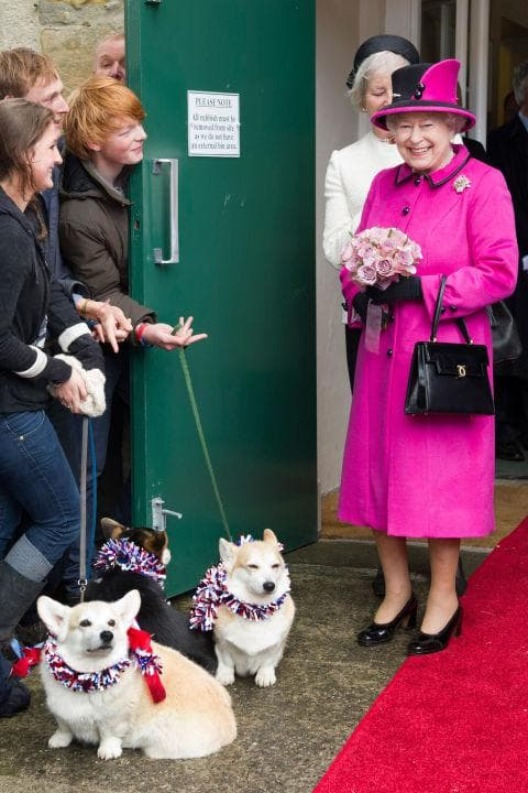 Кралица Елизабет II и нейните коргита