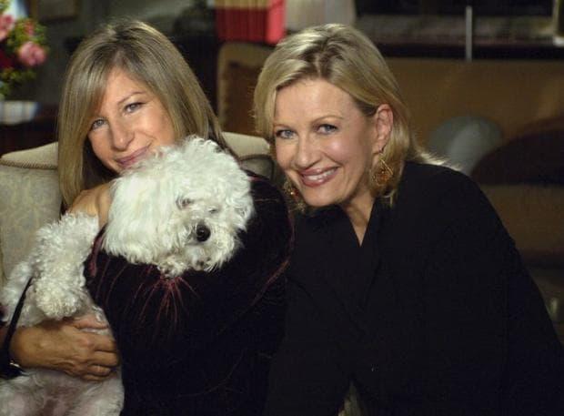 Барбара Стрейзънд и нейното куче Саманта