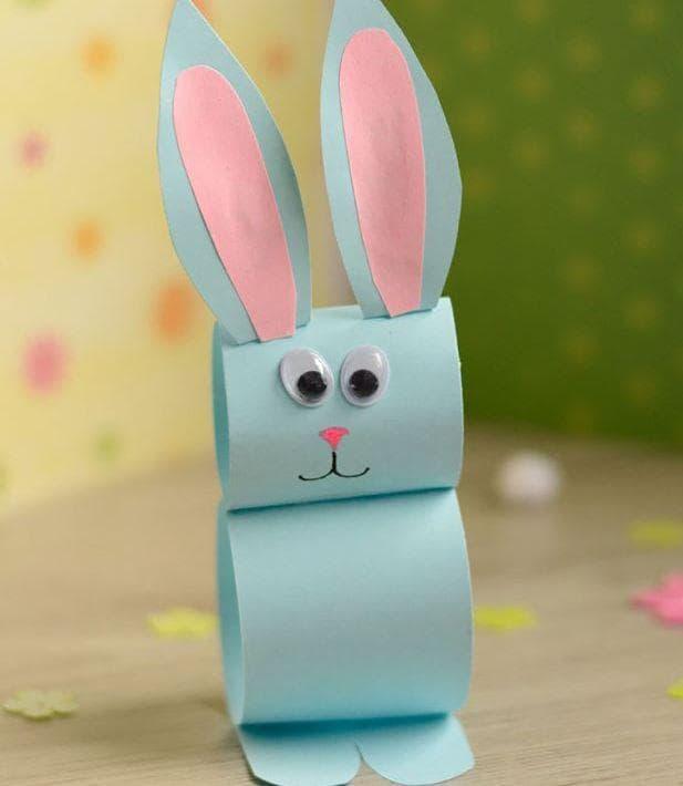 Цветни хартиени зайчета