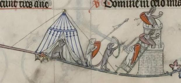 Хрътки и зайци в обсада на замък