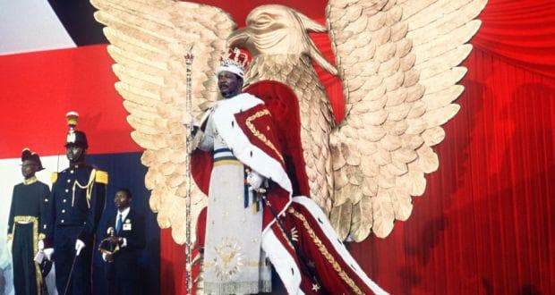Снимка от коронацията на Жан-Бедел Бокаса