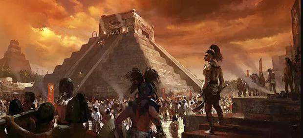 Град на маите, рисунка