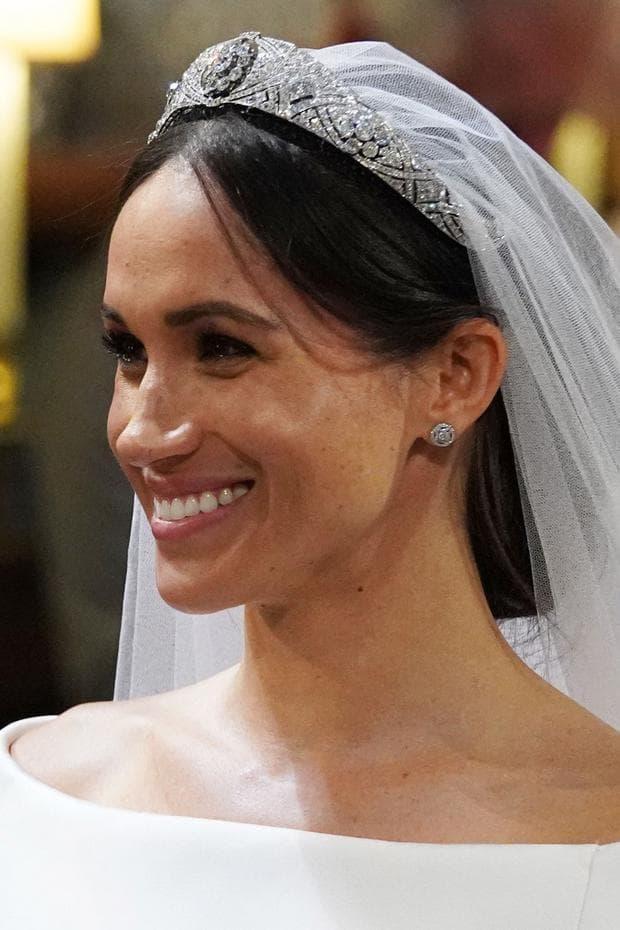 Меган Маркъл по време на сватбената й церемония