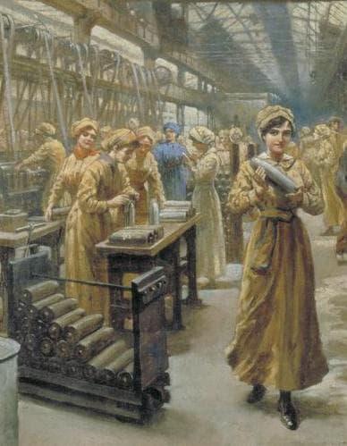 Работнички във фабрика за динамит