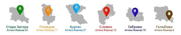 карта градове