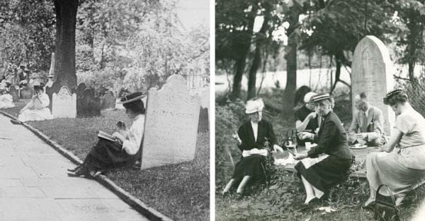 на почивка на гробищата