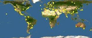карта разпространение