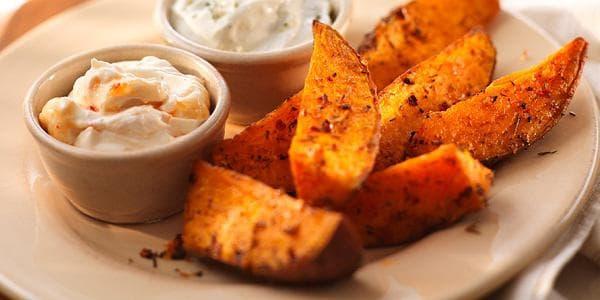 Пържен печен картоф