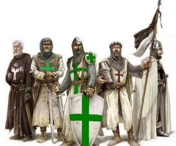 Рицари от Лазаритския орден, рисунка