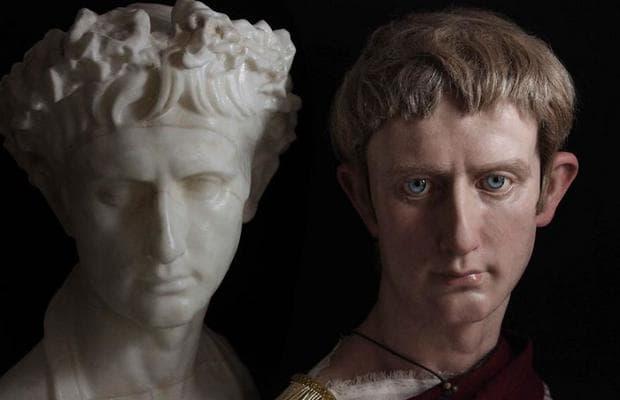 Октавиан Август и оригиналния бюст