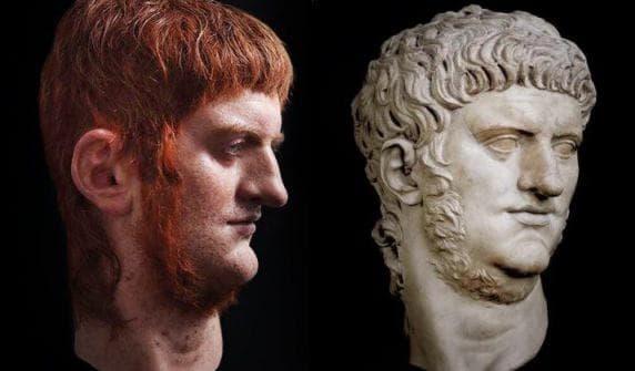Нерон и оригиналната статуя