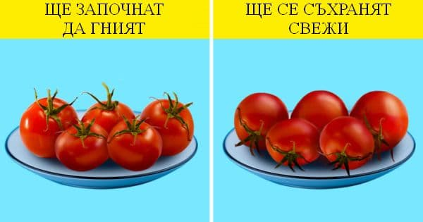 Съхраняване на домати