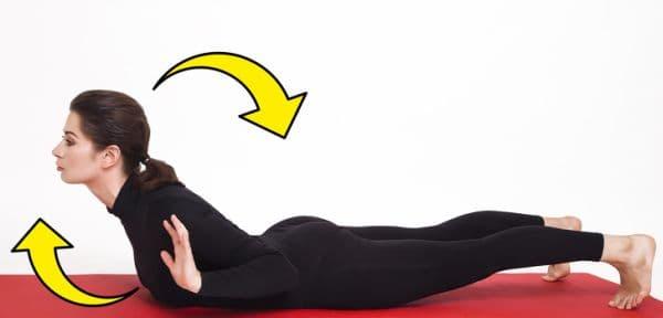 Повдигане на горната част на тялото и заемане на неподвижна поза