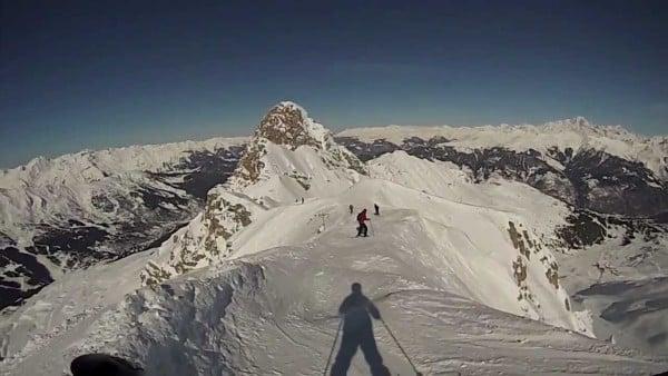 Опасни ски курорти - Ски писта във Франция - екстремната Grand Couloir