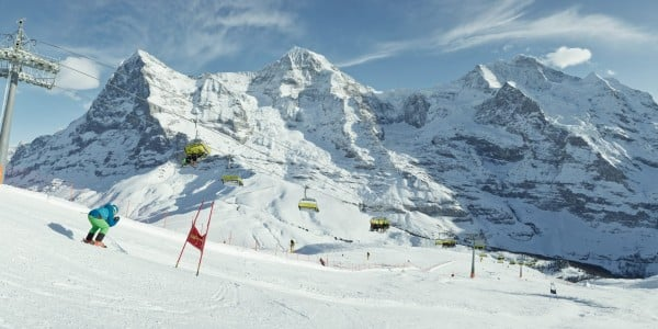 Една от най-дългите писти - Лауберхорн, Швейцария