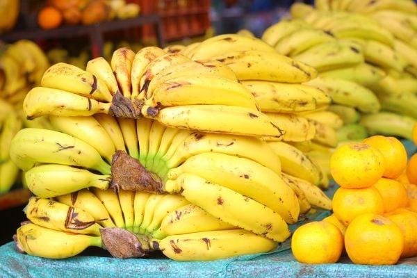 Щанд с банани на пазара