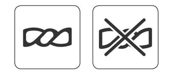 Символи за изстискване на дрехите.