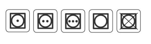 Символи за сушене в центрофуга.
